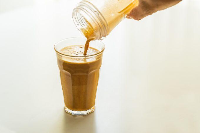 butter coffee diet. Bulletproof Coffee.Creamy bubble.