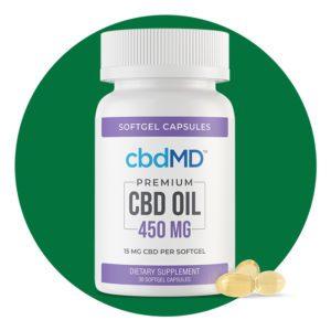 cbdMD CBD Oil Softgel Capsules