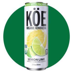 Koe Organic Kombucha Lemon Lime