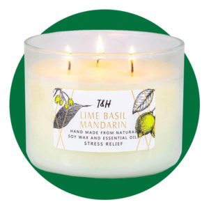 Lime Basil Mandarin Stress Relief Scented Candle