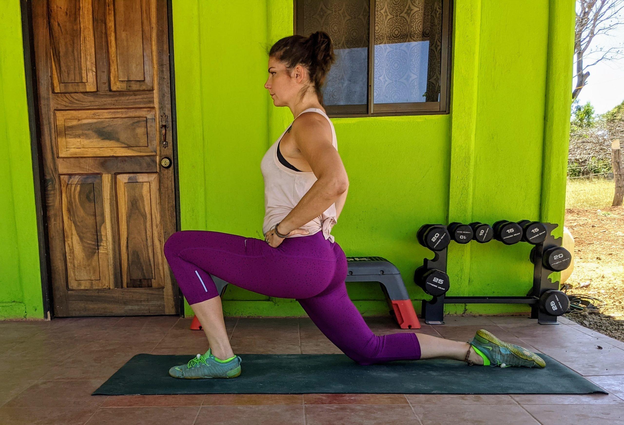 kneeling hip flexor stretch for low back