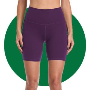 Colorfulkoala Womens High Waisted Biker Shorts