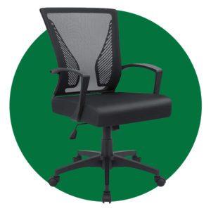 Furmax Office Mid Back Swivel Lumbar Support Desk