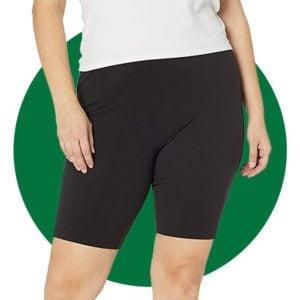 Just My Size Womens Plus Size Stretch Jersey Bike Short