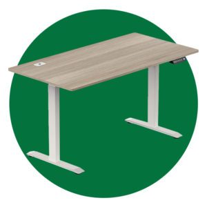 Shw 55 Inch Large Electric Height Adjustable Computer Desk