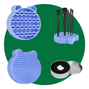 Brush Cleaning Mat And Color Removal Sponge
