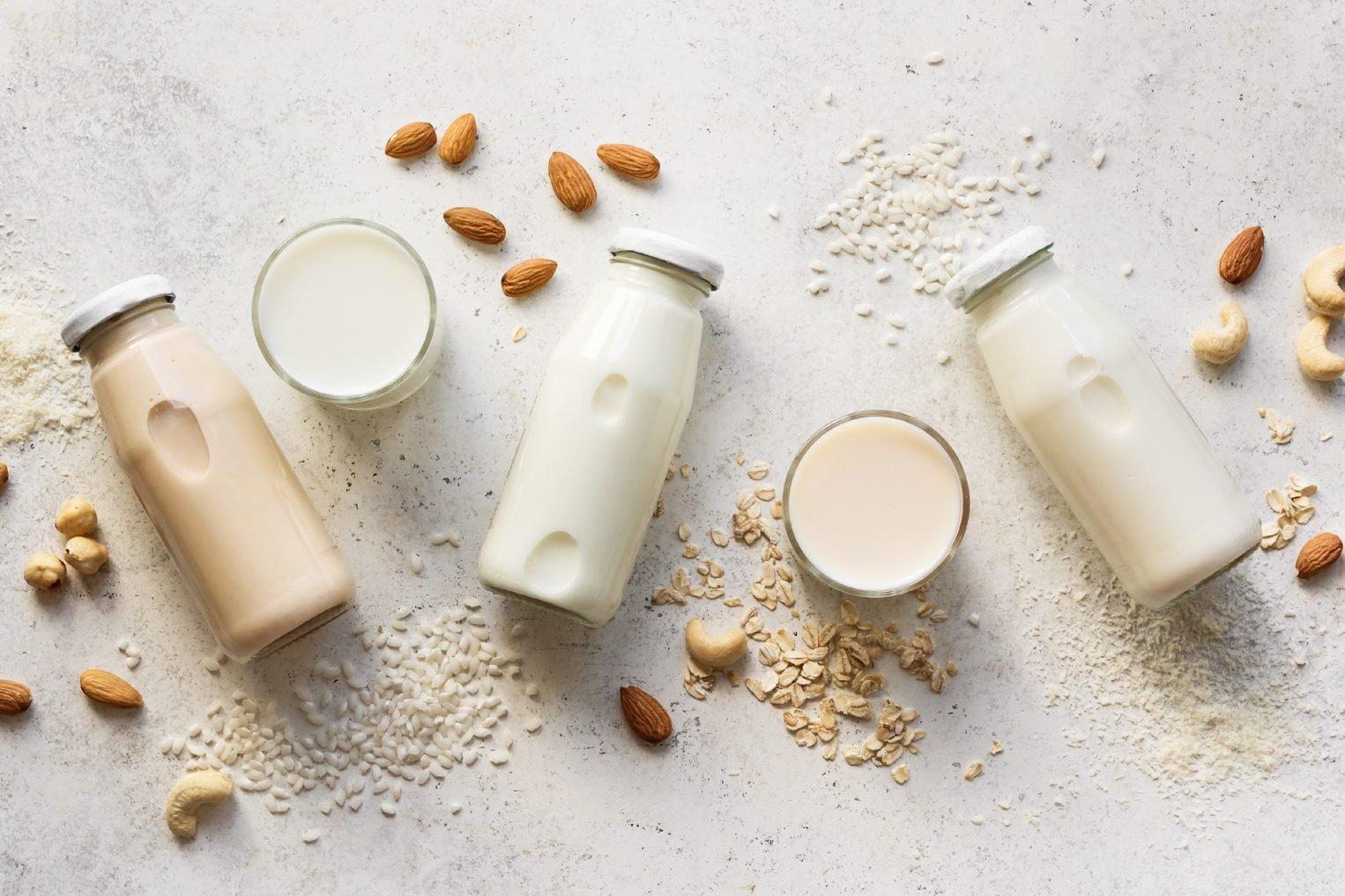 Vegan plant based milk