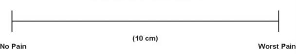 visual analog pain scale