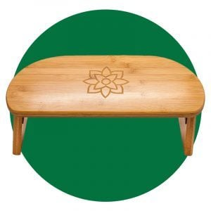 Bamboo Folding Meditation Bench With Bonus Travel Bag