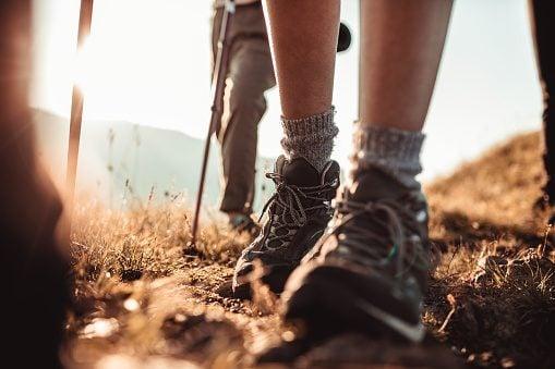 hiking boots, people hiking
