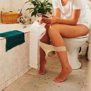 Once upon a time people read magazines in the bathroom