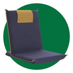 Bonvivo Easy Iii Padded Folding Floor Chair Blue And Beige