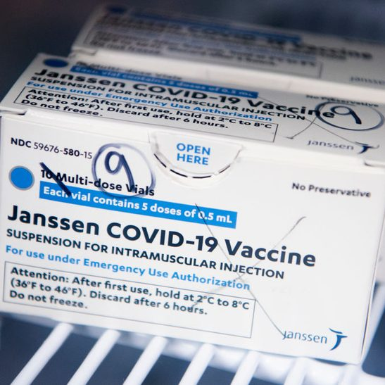 box of janssen johnson and johnson covid vaccine
