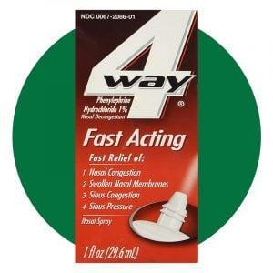 4 Way Fast Acting Nasal Spray
