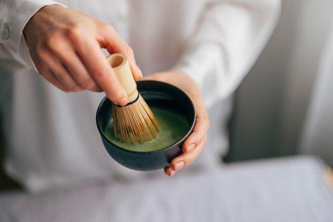 Anonymous Woman Making Matcha Tea