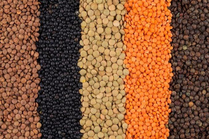 various legumes lentils