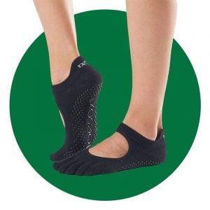 Toesox Womens Bellarina Full Toe Grip Non Slip Socks
