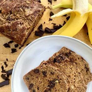 Healthy banana bread ingredients
