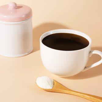 Coffee and collagen powder