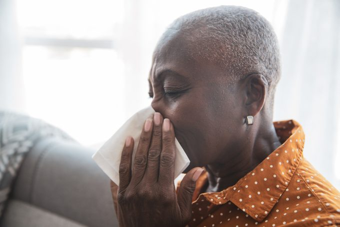Senior Woman With a Cold