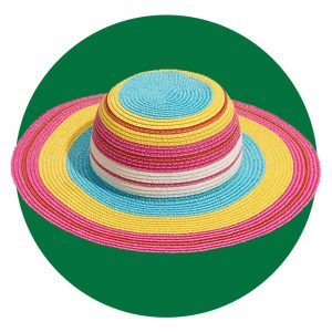 Metallic Stripe Hat