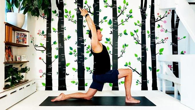 crescent yoga pose