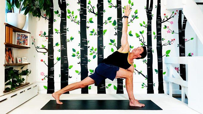 basic twist yoga pose