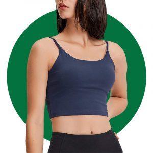 Lemedy Women Padded Sports Bra Fitness Workout Running Shirts Yoga Tank Top