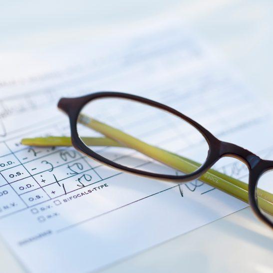 glasses on top of glasses prescription paper